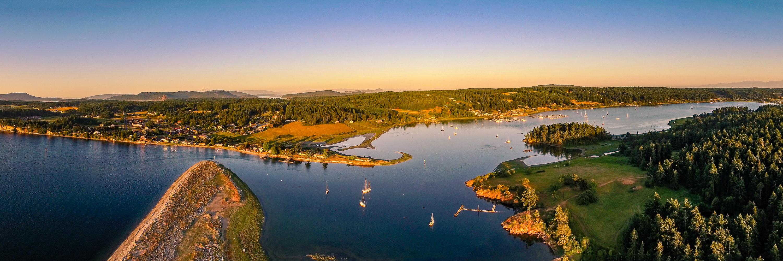 Fisherman Bay Aerial Photography - Lopez Island, Washington